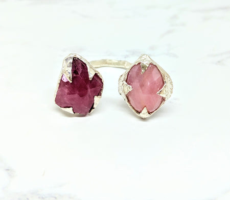 Pink Sapphires Celestial Open Ring