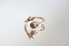 Rough Cut Ruby Gold Twig Ring-SALE