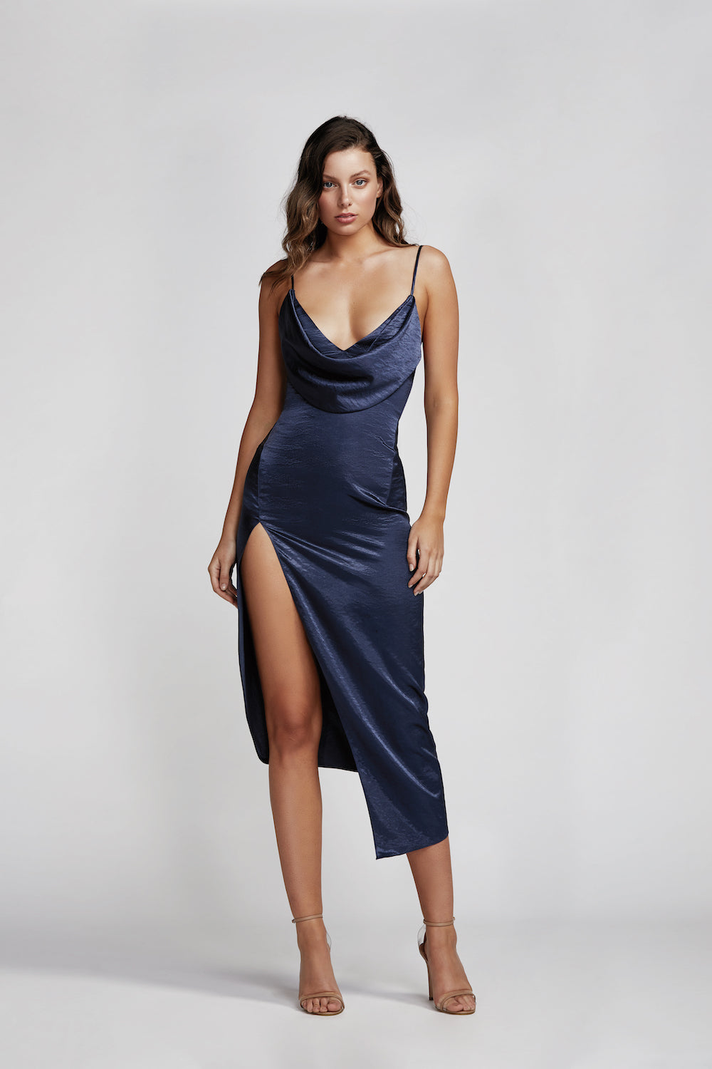Carmen Dress - Navy