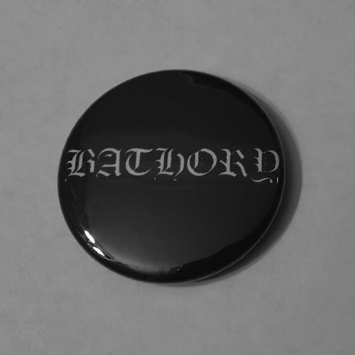 Bathory - White Logo (Badge)