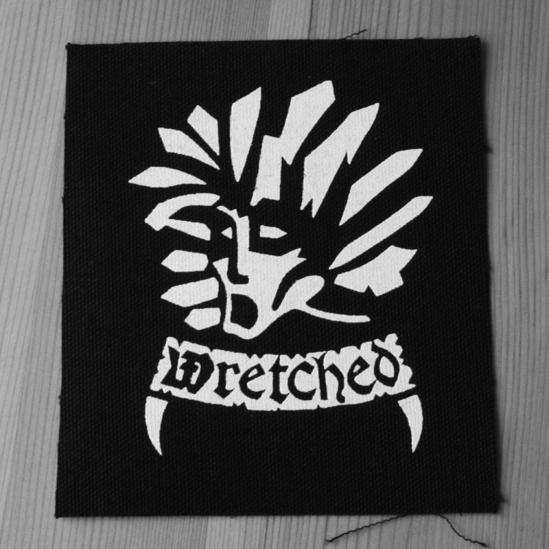 Wretched - White Logo (Printed Patch)