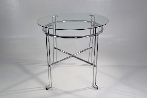 French Vintage Chrome Steel Side Tables, France, 1970's - Spirit Gallery