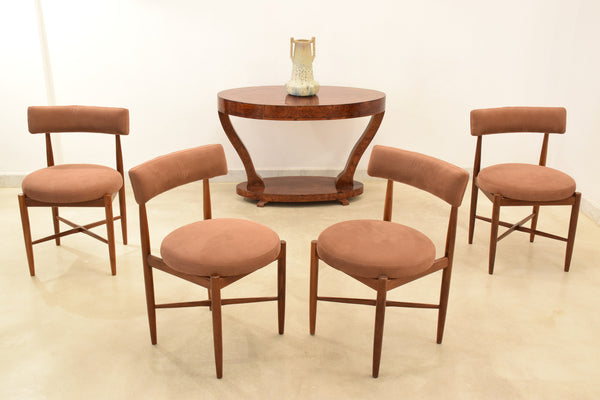 Danish Teak Dining Chairs by V B Wilkins for G Plan, Set Of 5, 1967 - Spirit Gallery