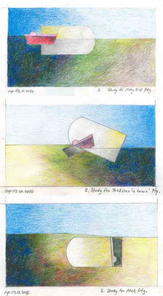 Moby Dick Studies, triptych