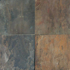 "Slate Tile Collection Rustic Gold 16""x16"" - FloorLife"
