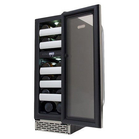 Whynter Elite 17 Bottle Dual Zone Built-in Wine Refrigerator - Stainless Steel BWR-171DS - Wine Cooler City