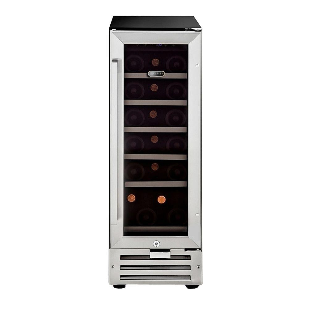 Whynter 18-Bottle Built-In Wine Refrigerator in Stainless Steel - Wine Cooler City