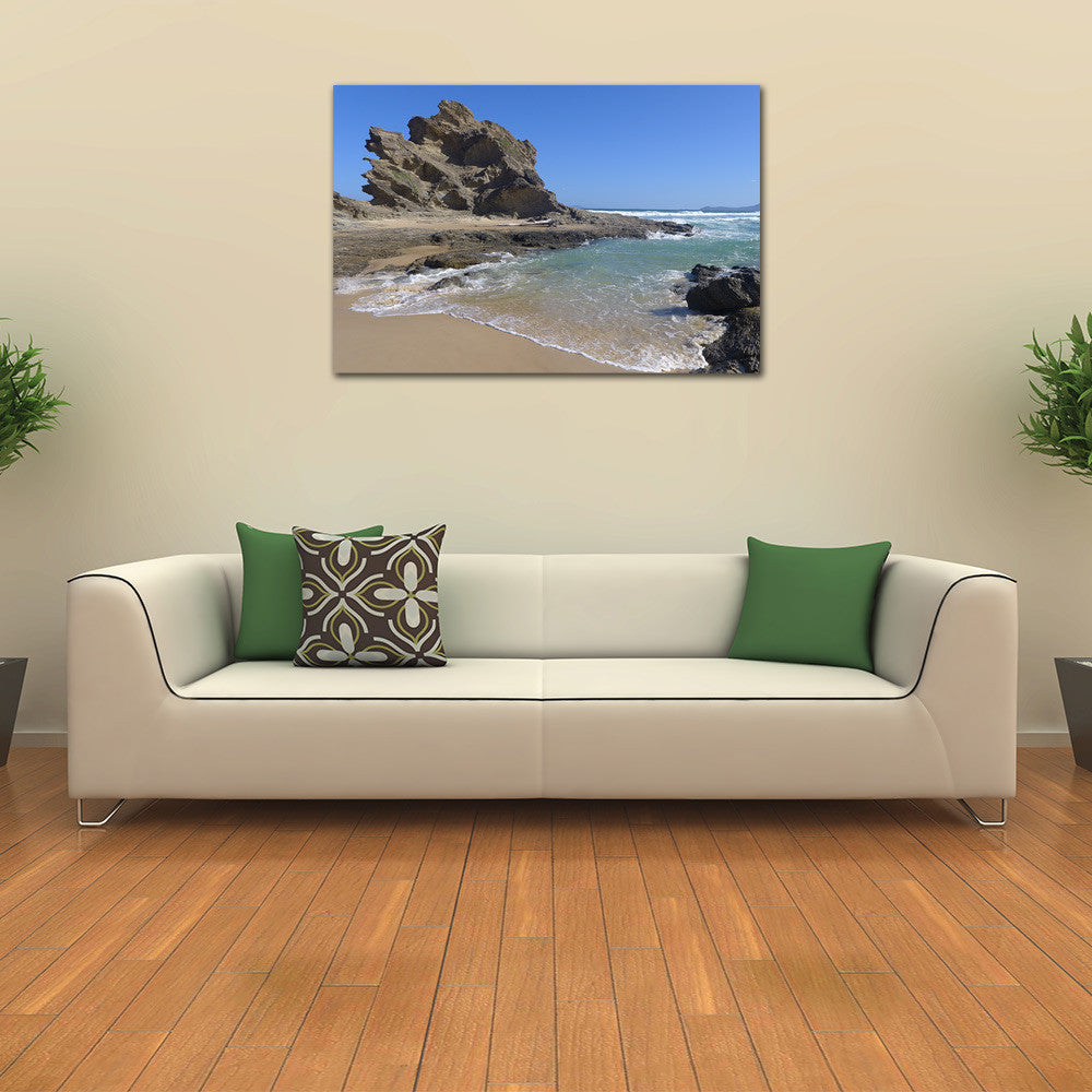 Rock Beach Canvas Art Print from Australian Shores