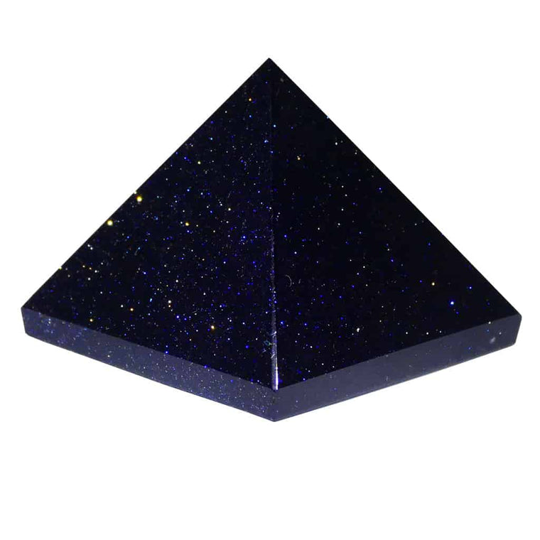 Blue Goldstone Pyramid