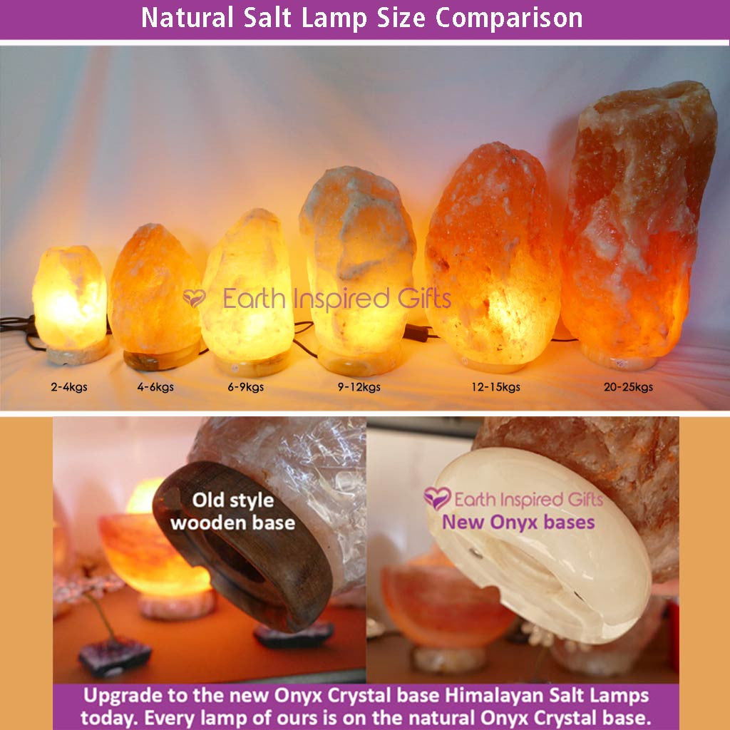 New Large Natural Himalayan Salt Lamps 35-40kg with Crystal Base