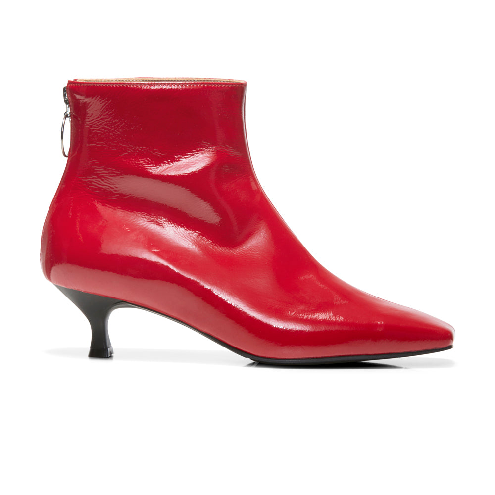 FEMME Ankle Boots - Red