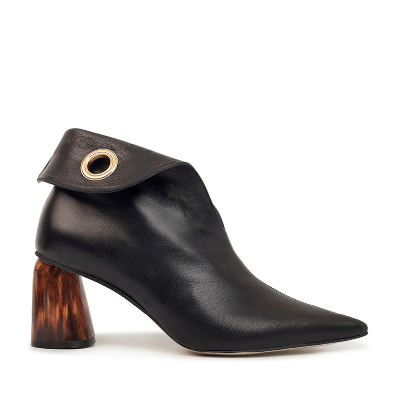 LAGARDE Leather Ankle Boots - Black