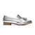 ECSTASY Tassel Leather Loafers - Metallic Silver