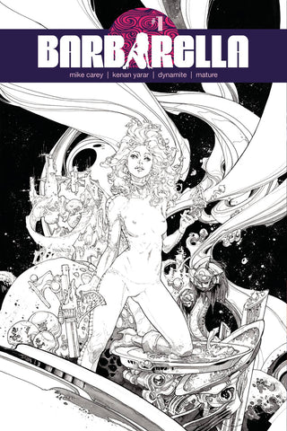 Barbarella #1 1/40 Kenneth Rocafort Black & White Variant