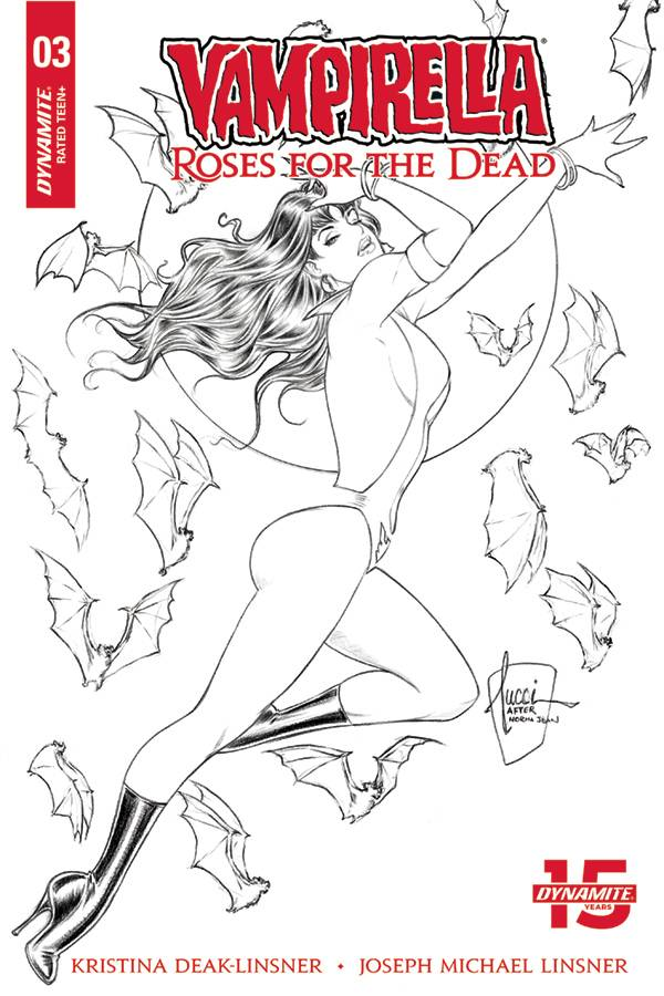 Vampirella Roses For The Dead #3 1/10 Billy Tucci Black & White Variant
