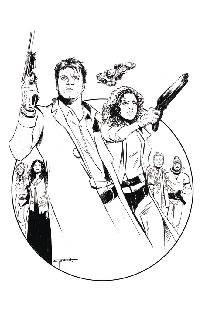 Firefly #1 1/50 Lee Garbett Black & White Variant