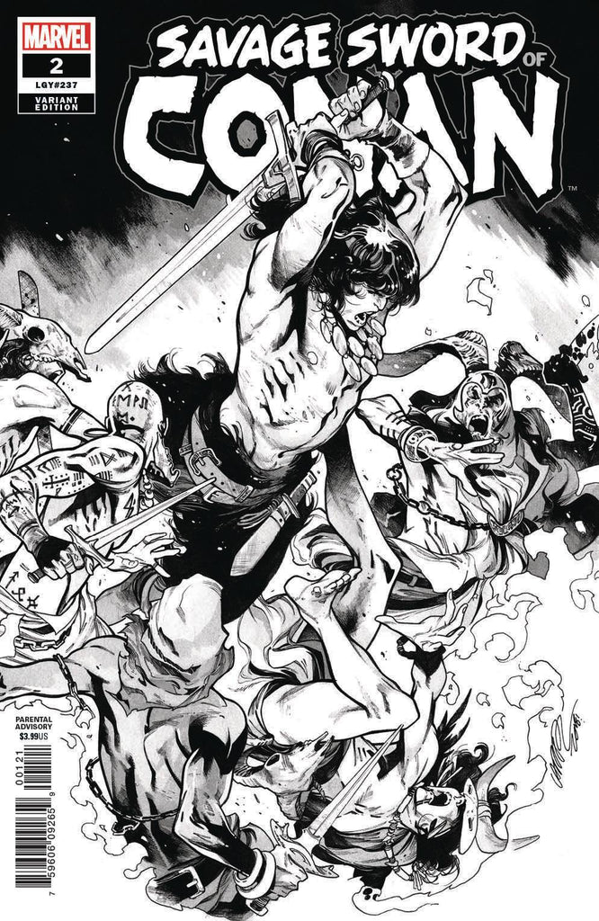 Savage Sword of Conan #2 1/50 Pepe Larraz Black & White Variant