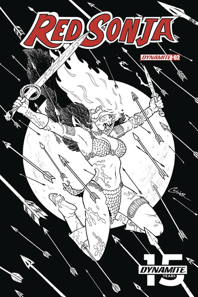Red Sonja #2 1/20 Amanda Conner Black & White Variant