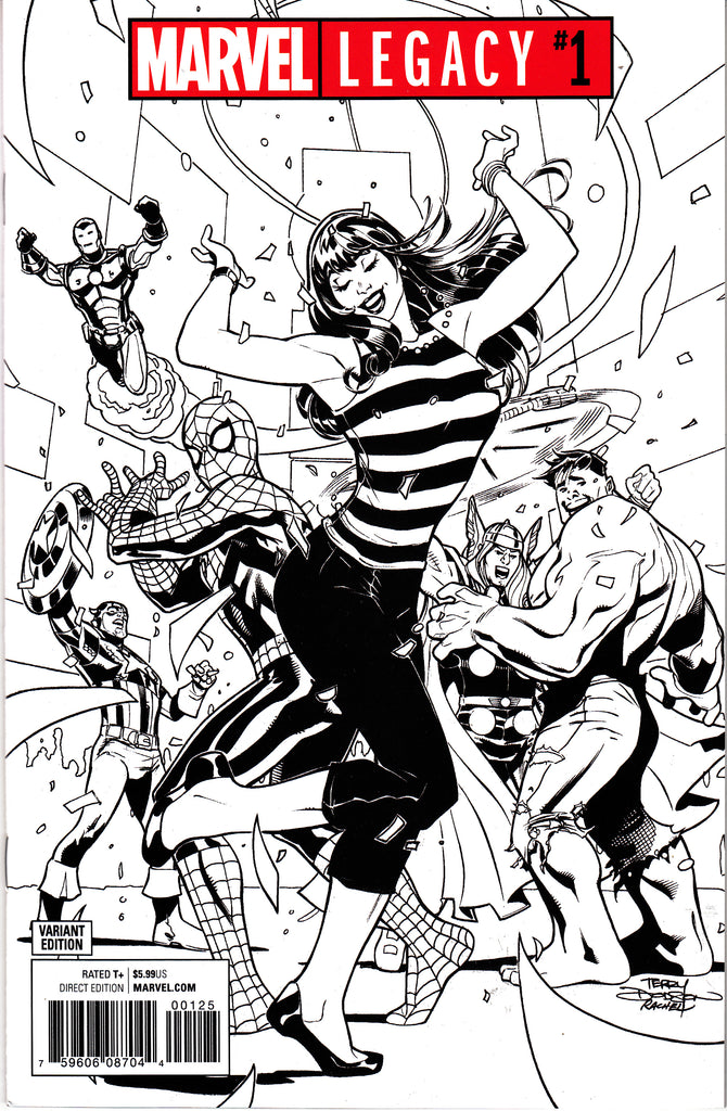 Marvel Legacy #1 One Per Store Terry Dodson Black & White Party Variant