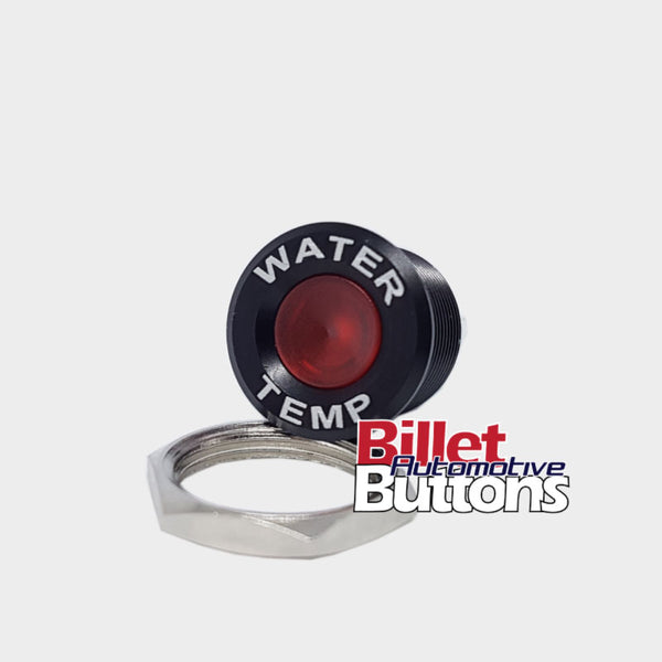 16mm 'WATER TEMP' LED Pilot / Warning Light Small Compact 12V
