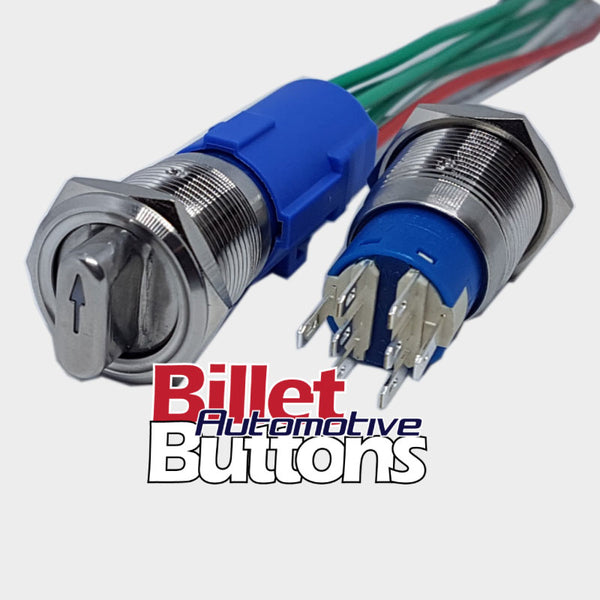 19mm 3 Way Switch ON-OFF-ON Style With LED Harness Included