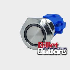 19mm 'BLANK' Billet Push Button Switch Harness Included