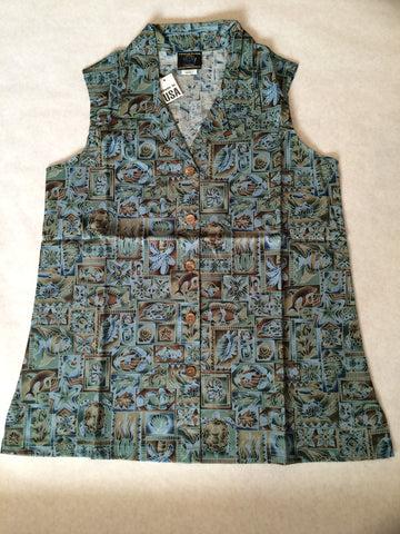 Women's Sleeveless Beach Comber Hawaiian shirt