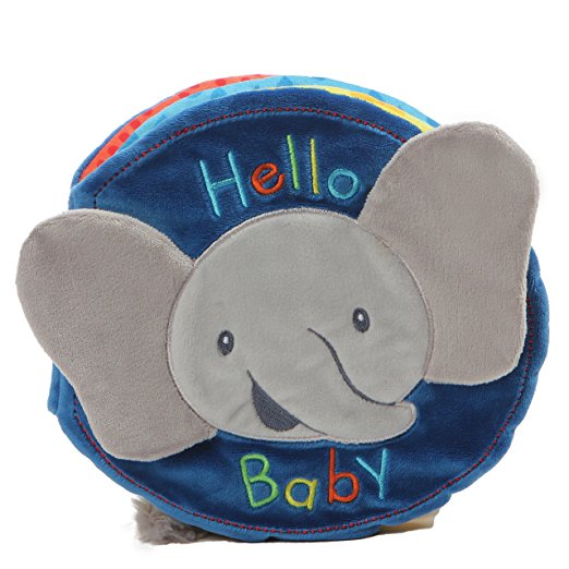 Gund Baby Flappy the Elephant Soft Activity Sensory Stimulating Book, 8