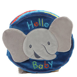 Gund Baby Flappy the Elephant Soft Activity Sensory Stimulating Book, 8""