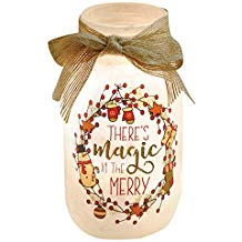 There's Magic Lighted Glass Jar