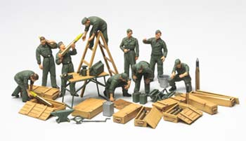 32547 1/48 WWII Grmn Tnk Crew Fld Maint Set (Part # TAMS3066)