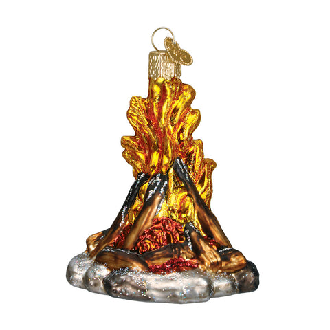 "Old World Christmas ""Campfire"" Glass Ornament"