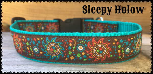 Aztec Sun Dog Collar