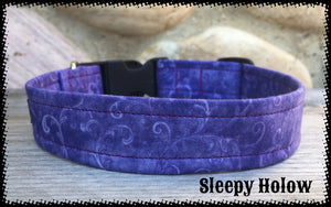 Swirly Purple Dog Collar