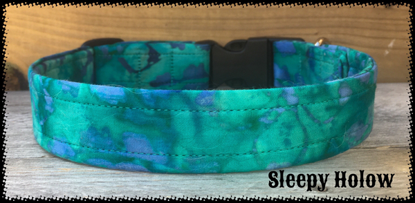 Custom Fabric Collar - Blues/Greens