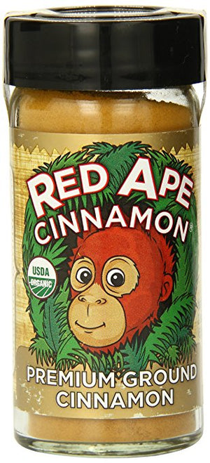 Red Ape Cinnamon Premium Ground Cinnamon, 2.3 Ounce Shaker - Snazzy Gourmet