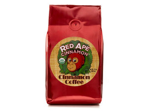 Red Ape Cinnamon Coffee, 10 Ounce Bag (Ground) - Snazzy Gourmet
