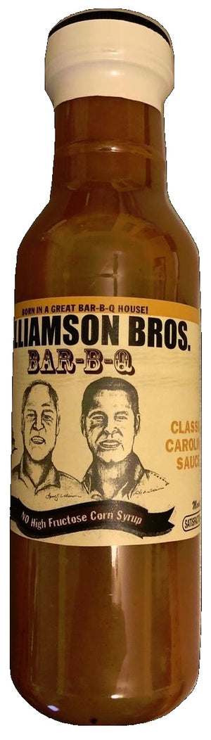 Williamson Bros. Classic Carolina BBQ Sauce 12 oz, 6-pack - Snazzy Gourmet
