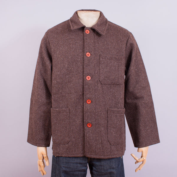 Le Laboureur Work Jacket - Brown Wool - J. Cosmo Menswear