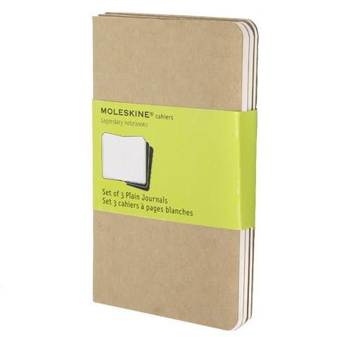 Kraft Pocket Cahier Moleskine Journals Set of 3 - J. Cosmo Menswear