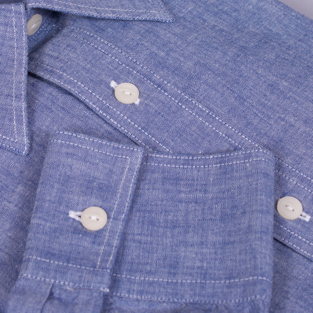 Chambray Work Shirt - J. Cosmo Menswear
