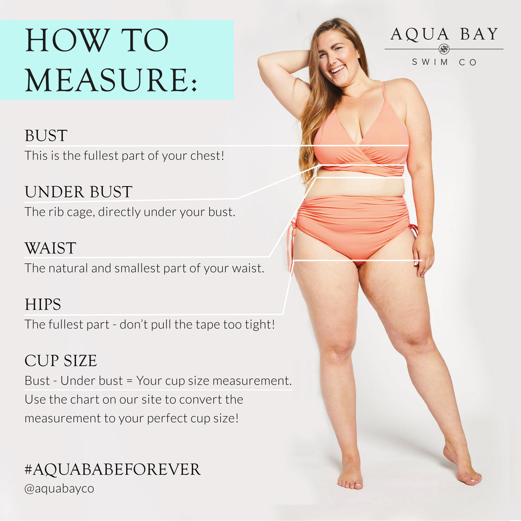 How to measure to get the perfect fit for your bathing suit, plus size swimwear canada, bikinis canada, d cup swimwear
