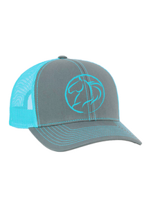 Andrea Equine Embroidered Trucker Hat-Turquoise - Andrea Equine
