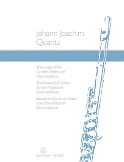 Quantz Johann Joachim	Trio Sonata in C minor. First edition.