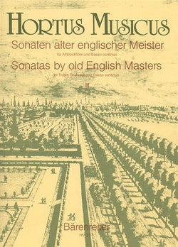 Various Composers 	Sonatas by Old English Masters, Vol.3. (Paisible, Sonatas F, D min / Topham, Sonata C min).