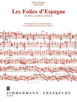 Marais - Les folies de spange for flute and piano (Zimmerman)