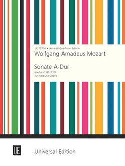 Mozart, Wolfgang Amadeus - Sonata for flute and guitar KV 331/332