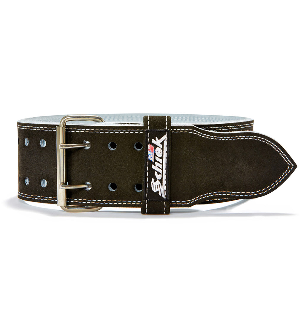 L6010 Schiek Competition Power Weight Lifting Belt Double Prong Front