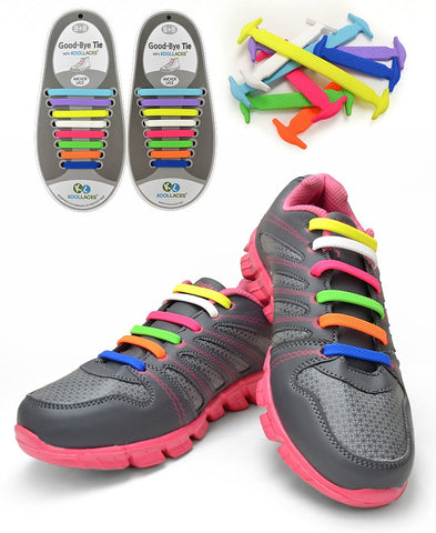 QuickLace - No Tie Silicone Shoelaces (16pcs set)