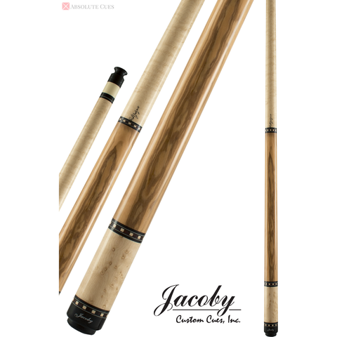 Jacoby Pool Cues - HB1 - Birdseye Maple Olive Wood - Low Deflection - absolute cues